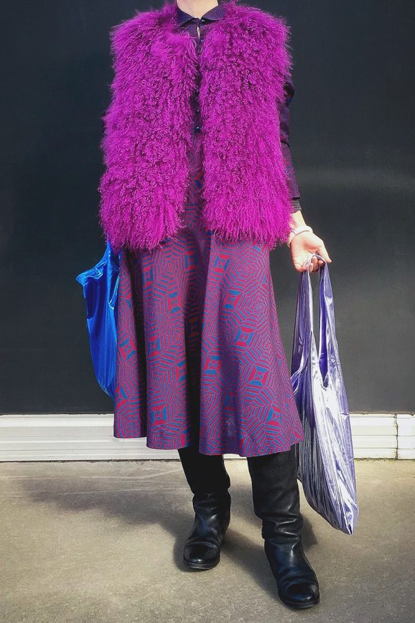 Glam rock shopper silver-lilac