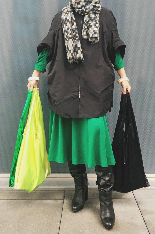 Glam rock shopper black smoking & glossy fluo yellow