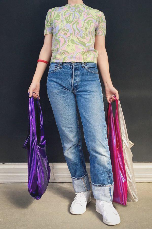Glam rock shopper dark purple