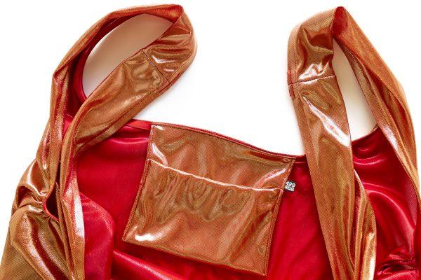 Glam rock shopper gold-red